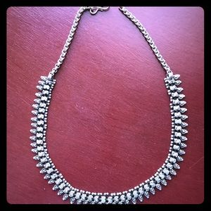Sterling silver handmade Indian statement necklace